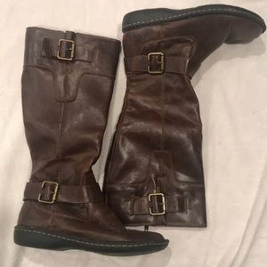Born concepts brown flat wedge knee boots Sz. 7.5